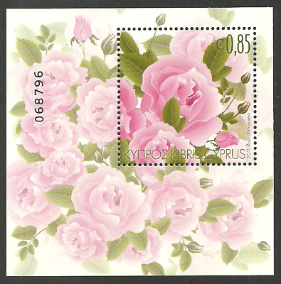 Cyprus 2011 Aromatic Flowers Roses Flower M/sheet