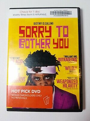 Sorry To Bother You, 2018, Rated-R, Comedy, Fantasy, Sci-Fi, DVD Movie, Like New