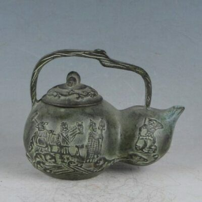 Rare Bronze Journey to the West Gourd Teapot HST0013