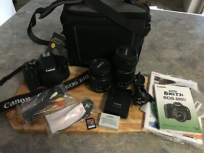 Canon EOS Rebel T3i EOS 600D 18.0 MP Digital SLR Camera Bundle