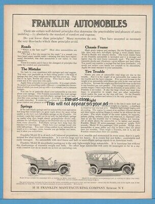 Collectibles 1916 The Franklin Car Franklin Automobile Company Advertisement Clients First Merchandise & Memorabilia