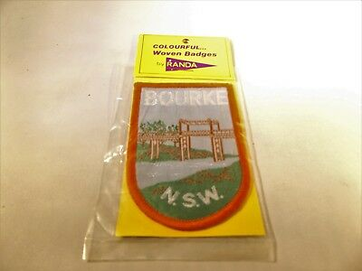 Vintage Cloth Badge    Bourke N.s.w.