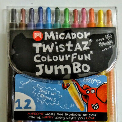 Micador Twistaz Colourfun Jumbo 12s Twist up Crayons model CRM700