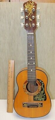 "Vintage 23"" Acoustic 6 string Guitar may be Russian ?"