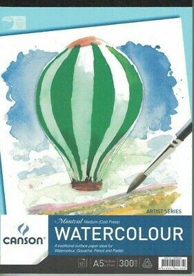 Canson Montval 300gsm Watercolour Pad A5 - Medium / Cold Pressed