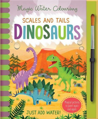 NEW Magic Water Colouring Painting Scales & Tails Dinosaurs Kids Art Craft Gift!