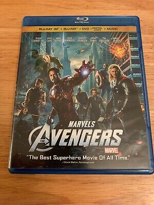 The Avengers (Blu-ray/DVD, 2012, 4-Disc Set, Includes 3D/2D)