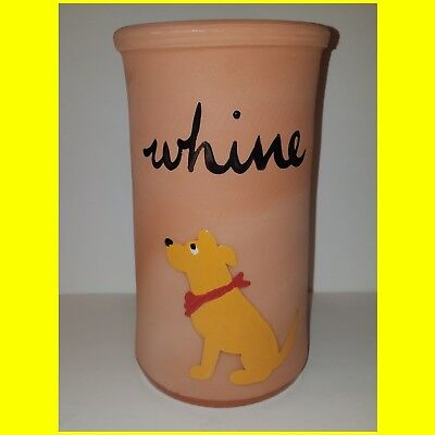 "Zeppa Studios Terracotta ""Whine"" Dog Theme Wine Cooler -Golden Puppy NEW"