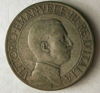 1908 ITALY LIRA - Very Hard to Find Vintage Silver Coin - Lot #F16