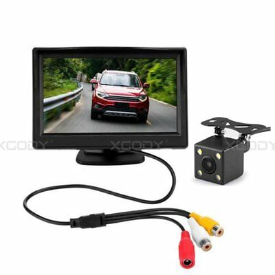 5Inch LCD Monitor Screen + Car Rearview Wired Reverse Camera 170°Waterproof