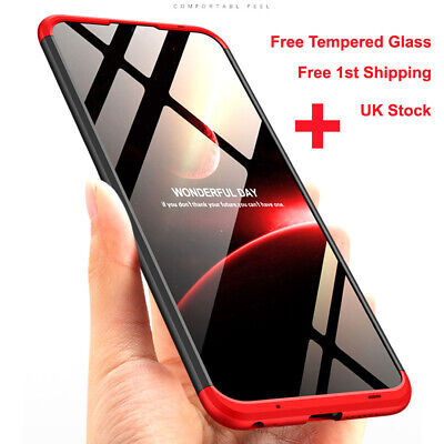 360° Full Body Cover Shockproof Hard Case For Huawei P Smart 2019+Tempered Glass