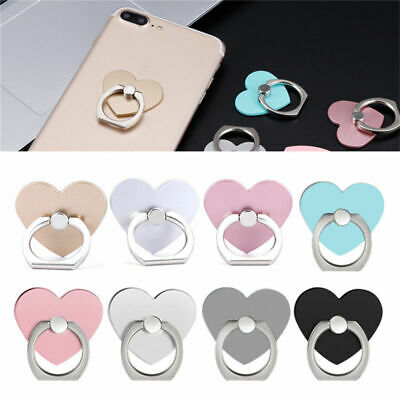 Heart Finger Grip Ring Holder 360 Rotating Stand For Mobile Phone iPad Tablet