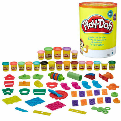 NEW Hasbro Play-Doh Create 'n Canister 20 Cans 45+ Pieces Kids Creativity Gift!