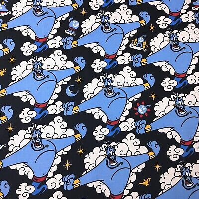 Disney 1/2 Metre Aladdin Magic Lamp Kids Sewing Quilting Fabric New Cotton
