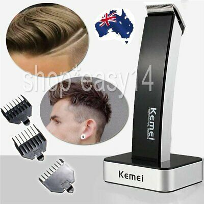 AU Men's Rechargable Electric Cordless Hair Beard Clippers Trimmer Shaver Razor@