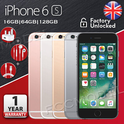 New Apple iPhone 6s 16GB 64GB 128GB Unlocked Smartphone Various colors 1 Yr Wty
