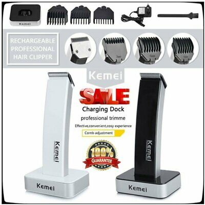Men's Rechargable Electric Cordless Hair Beard Clippers Trimmer Shaver Razor HT