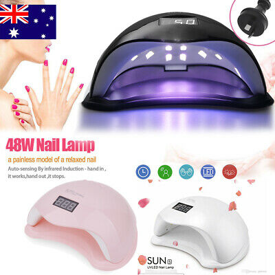 48W Sun5 LED Nail Light UV Lamp Manicure Dryer Curing Gel Nail Polish Art Timer