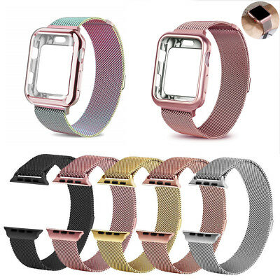 Magnetic Milanese Watch Loop Band Strap for Apple iWatch 38/40/42/44mm Stainless