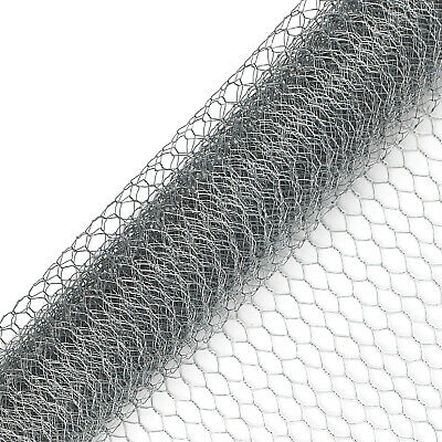 Galvanised Chicken Wire Mesh Fence Net Hexagonal Netting Fencing Cages Runs Pens