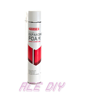 Expanding Foam 750ml | EvoStik Spray Expand PU Interior Exterior Fill Crack Gap