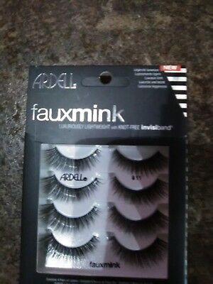 Ardell Faux mink  Lashes  811 luxuriously lightweight invisiband (FREE GIFT)