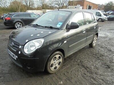 2009 Kia Picanto Chill 1.1 Black Salvage Damaged Repairable Petrol Manual Car