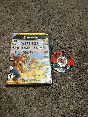 Super Smash Bros. Melee Gamecube players choice Case  **game damaged**