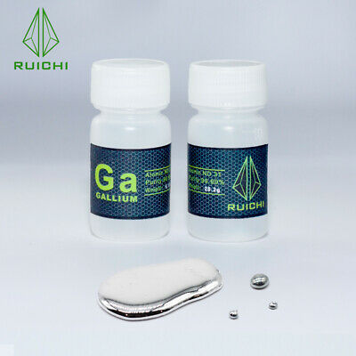 99.99% Pure Liquid Gallium Element Melting Point 29.8 ℃ 20gram