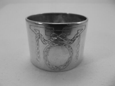 HM Silver Napkin Ring (468a) Probably Danish marked 830S by MEH - Not Engraved