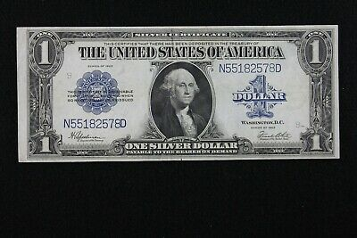 $1 1923 Horse Blanket Large Silver Certificate N55182578D One $, FREE SHIPPING