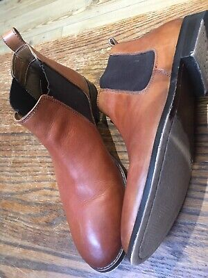 MENS  OFFICE LONDON BRAMBLE BROWN LEATHER CASUAL CHELSEA ANKLE BOOTS SIZE 41 Uk