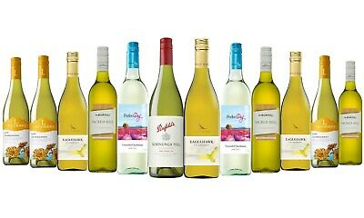 Mixed Chardonnay White Wine Trial Pack 5-Star Winery 12 x 750mL - FREE SHIPPING