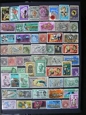 Collection Of Nigeria Nigerian Stamps