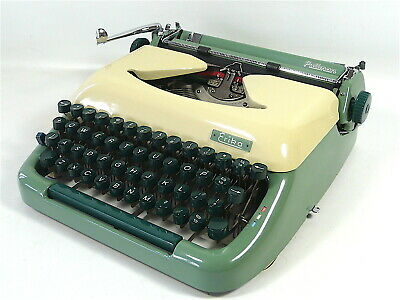 Erika Typewriter Model 10, 1961 QWERTY, Outstanding, Serviced & w/ New Ribbon!