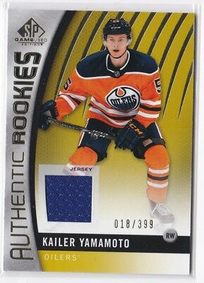 2017/18 SPGU SP Game Used RC Kailer Yamamoto #'d 18/399 Jersey