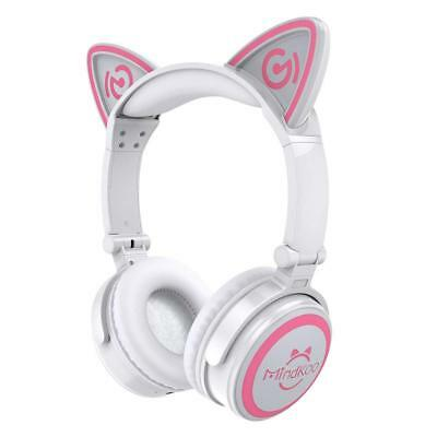 MindKoo Cat Ears Bluetooth Wireless Headphone White From Japan F/S