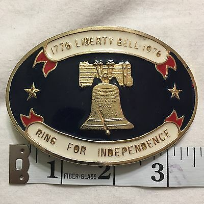 USA Vintage United States of America Liberty Bell 1976 Independence Belt Buckle