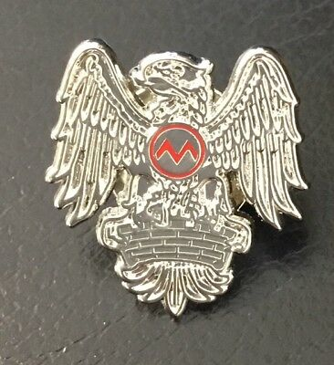 Busby Babes Munich Air Disaster Silver Eagle Memorial Enamel Pin Badge