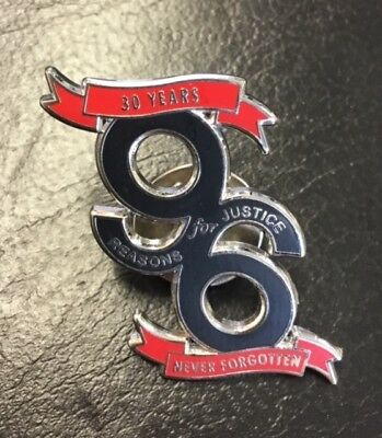 30 Years Never Forgotten, 96 Reason For Justice- Black Enamel Pin Badge
