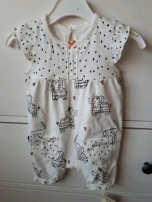 George Baby Romper 0-3 Months NEW