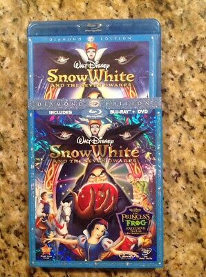 Snow White and the Seven Dwarfs (Blu-ray/DVD,2009,3-Disc)Ahthentic Disney US