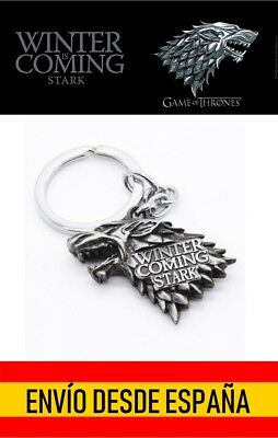 Llavero Juego de Tronos Stark Lobo Game of Thrones Wolf Stark Winter is Coming
