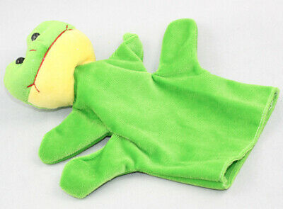 Cute Animal Finger Puppets Doll Baby Educational Hand Toy Kid Green Frog Best