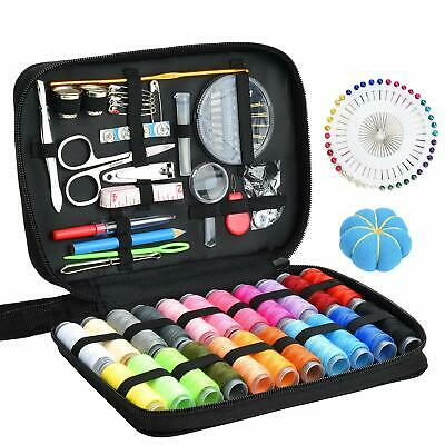 126Pcs Home Travel Sewing Kit Scissors Needle Thread Measure Stitching Hand Tool