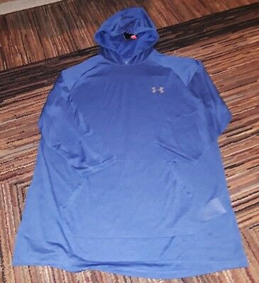 NWT Under Armour Mens Tech 2.0 3/4 Sleeve POWER Hoodie Pullover BLUE