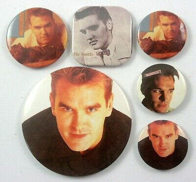 THE SMITHS AND MORRISSEY BUTTON BADGES 6 x Vintage Smiths Pin Badges