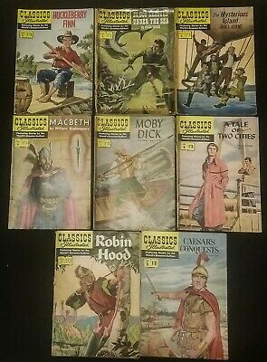 8 Issues of Classics Illustated Including issues 1-7 & Issue 9