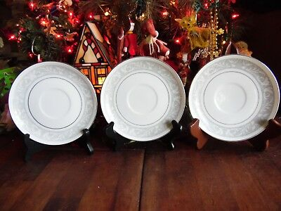 NEW OTHER(old stock) SET of 3 IMPERIAL CHINA SAUCERS WHITNEY 5671 W DALTON