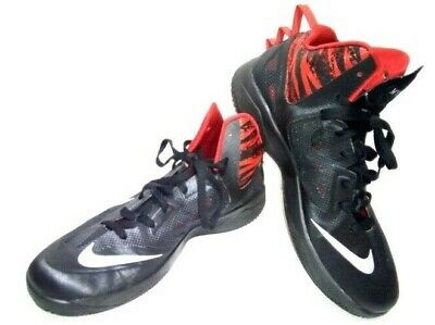 free shipping f3051 103dd Nike Zoom Hyperfuse 2013 Men s 12 Black Red Basketball 615896-001 Sneakers  Shoes